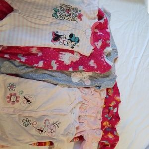 Baby Girl Sleeper Lot
